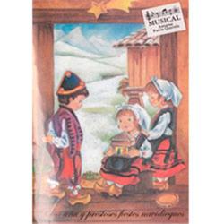 Postales navideñas musicales motivos asturianos